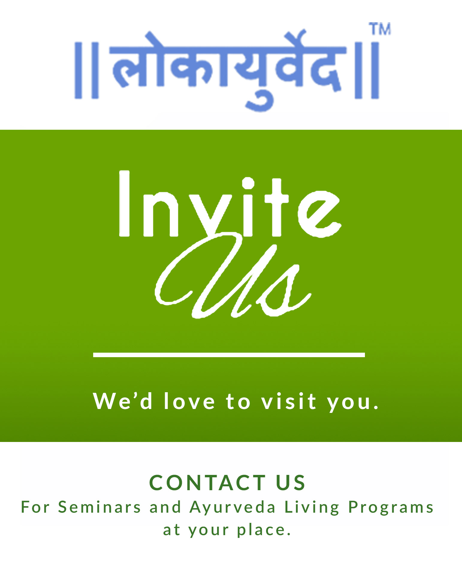 Invite us for seminars and healthy living programs